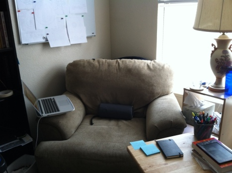 "My ""comfy"" writing chair"